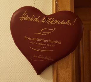 Begrüßung an der Zimmertür Romantischer Winkel SPA & Wellness Resort