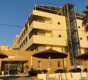Blick vom Strand Hotel Corissia Princess