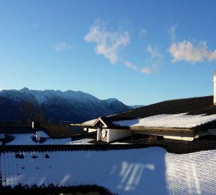 Aussicht vom Balkon Hotel Alpenhof Murnau