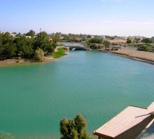Die Lagune vor dem Haus Arena Inn Hotel, El Gouna