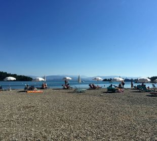 Strand in Gouvia Hotel Paradise Corfu