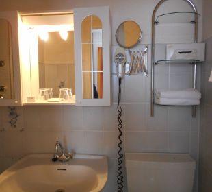 Toilette/Dusche Hotel Victoria
