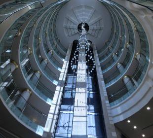 Lift im B-Turm Hotel Delphin Diva Premiere