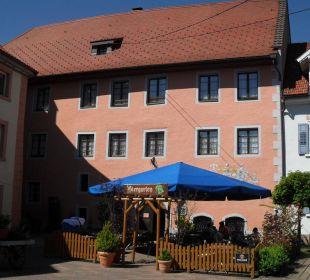 Terrasse mit Gästehaus Hotel Landgasthof Rebstock