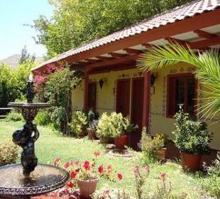 Gästeterrasse Hacienda Los Andes