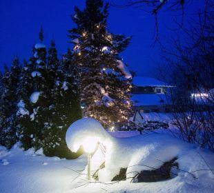 Zur Weihnachtszeit am Pool Familienhotel Filzmooserhof
