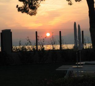 Sonnenuntergang von Hotelterrasse