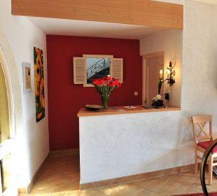 Unsere Rezeption und unser Eingangsbereich Hotel Trifthof