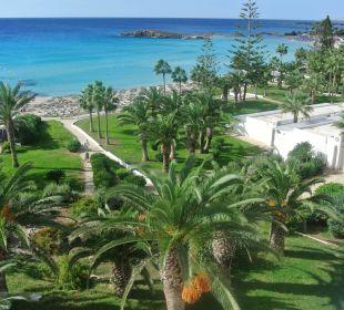 Ausblick vom Balkon Hotel Nissi Beach Resort