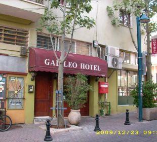 Blick auf die Eingangstür Galileo Boutique Hotel