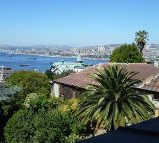 Ausblick vom Zimmer über die Bucht