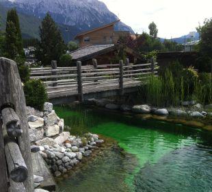 Teil des Badeteichs Alpenresort Schwarz