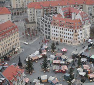 Blick von der Frauenkirche auf´s Hotel Steigenberger Hotel de Saxe