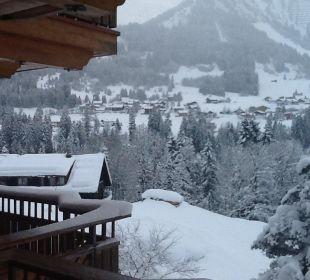 Blick vom Zimmer nach Riezlern Hotel Bellevue