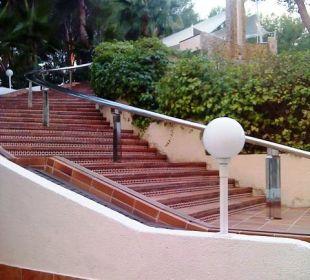 Treppenaufgang zum Pool