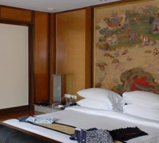 Das tiefer gelegte Bett Hotel Banyan Tree Phuket