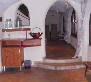 Die Wasserspender im Saunabereich Hotel Trattlerhof