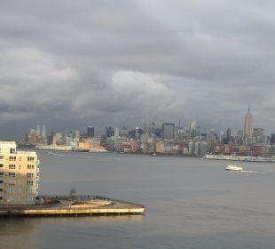 Blick auf Manhatten Hotel Hyatt Regency Jersey City On The Hudson
