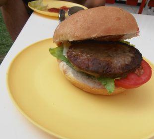 Hamburger, který si každý mohl sám připravit Hotel Krizantem