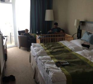 Doppelzimmer mit Kinderbett Hotel Neptun