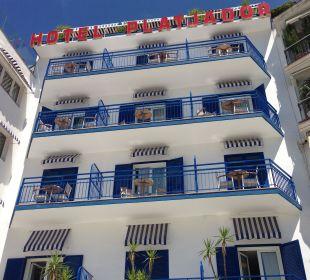 Hotel von aussen Hotel Platjador