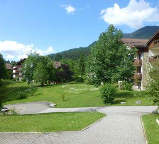 Weiläufig, für Ruhesuchende abseits d. Biergartens Dorint Sporthotel Garmisch-Partenkirchen