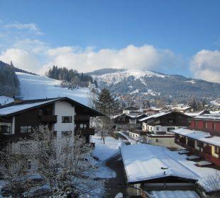 Ausblick in den Winterzauber  Sporthotel Ellmau