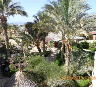 Blick von Shishabar zum Beachrestaurant  Hotel Utopia Beach Club