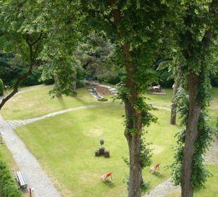 Blick vom Zimmer in den Park Hotel Rothof Bogenhausen