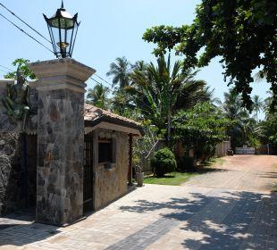 Der Weg zum Restaurant Amal Villa