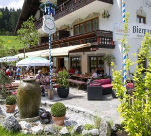 Super Bier im Superbiergarten Aktivhotel & Gasthof Schmelz