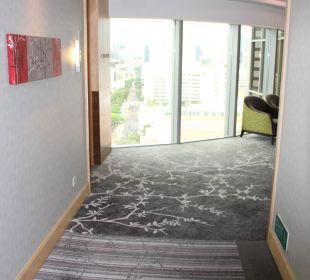 Flur/Zugang zu den Aufzügen Carlton Hotel Singapore