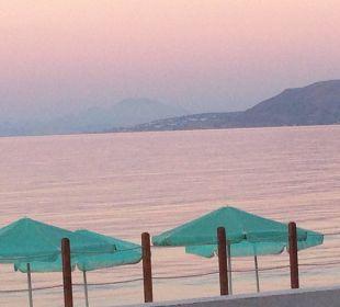 Ausblick beim Abendessen Hotel Corissia Beach