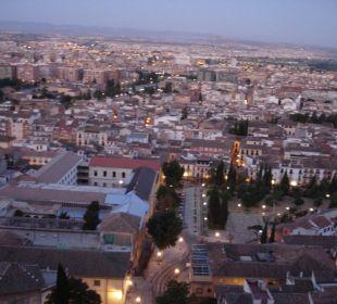 Ausblick vom Zimmer zum Sonnenaufgang Hotel Alhambra Palace