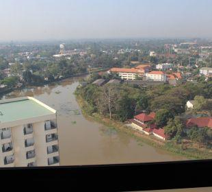 Ausblick von Zimmer 2220 Hotel Holiday Inn Chiangmai