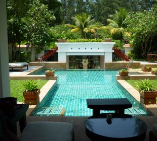 Mit Blick auf den Massagepavillon Hotel Banyan Tree Phuket