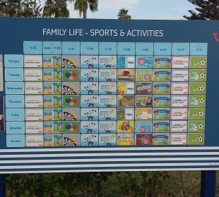 Das Animationsprogramm FAMILY LIFE Marmari Beach by Atlantica