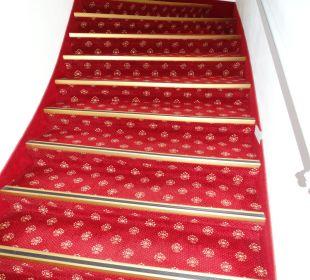 Treppe so nicht Fahrstuhl Hotel Kipping