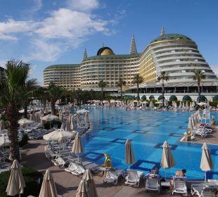 Rückansicht vom Pool Hotel Delphin Imperial