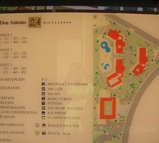 Plan der Anlage Hotel Don Antonio