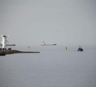 Hafen Aus u.Einfahrt mit Blick auf Mühle Baltic Home Apartments