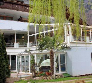 Von der Gartenseite  Hotel Alpenhof Passeiertal