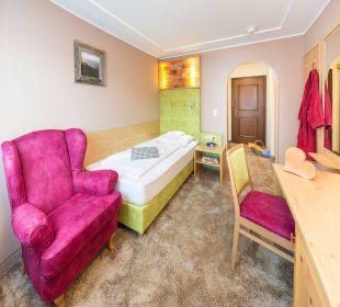 """Einzelzimmer """"Zirbennest"""" Vital Hotel Zum Ritter"""