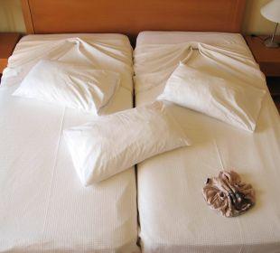 Drapierte Bettlaken Hotel Horizon Beach Resort