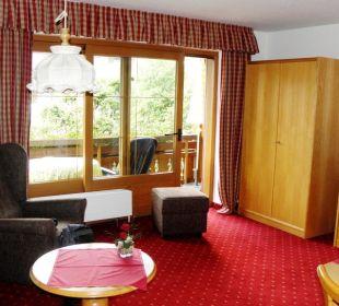 Appartement Nr. 4 - Wohnzimmer Gästehaus Sinz