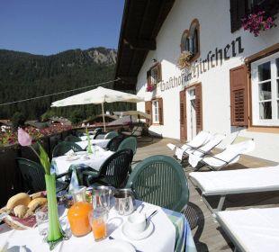 Terrasse Gasthof zum Hirschen