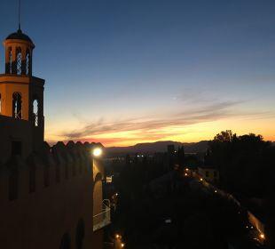 Blick von der Terrasse Hotel Alhambra Palace