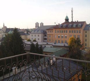 Aussicht vom Balkon Altstadthotel und Residenz Wolf-Dietrich