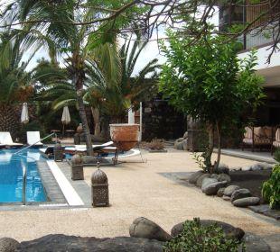 Blick in den Garten und Hotel Hotel Boutique Villa VIK