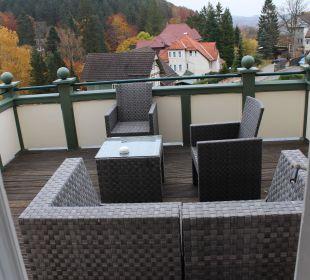 Terrasse an der Royalsuite Romantischer Winkel SPA & Wellness Resort